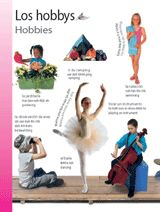 Hobbies (Los hobbys) themed vocabulary -- Give students these vocabulary handouts to introduce Spanish words for hobbies.    Get the printables from TeacherVision: http://www.teachervision.fen.com/spanish-language/printable/70413.html