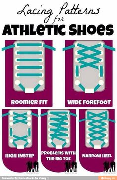 Lacing Patterns (Unless you wear strap shoes)