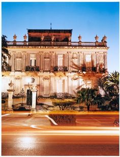 One of the beautiful neoclassical mansions that line the broad Paseo de Montejo.