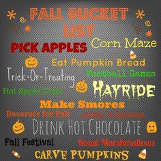 Fall Bucket List (no apple picking :(  )