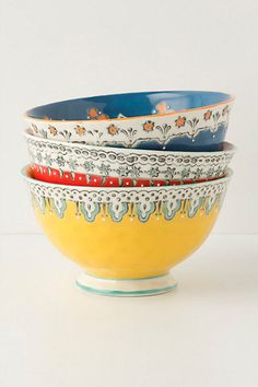 Hand-painted bowls at Anthropologie.
