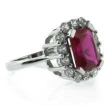 Beautiful Red Ruby Silver Ring