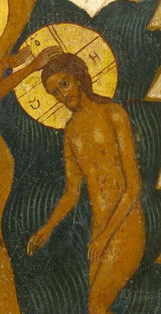 Detailed view: C034. Baptism- exhibited at the Temple Gallery, specialists in Russian icons
