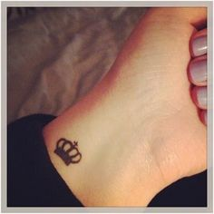 Tiny Crown Tattoo.. Only have been obsessed with crowns since I was little! I need this!