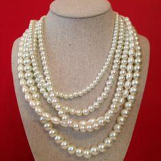 NEW: Pre-Sale: Grace Multi-Layered Pearl Necklace (Ships Late November – Prep Obsessed
