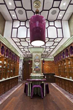 Penhaligon's shop on Regent Street in London is an eccentric Edwardian styled perfume emporium designed by Christopher Jenner. Shop Interior Design, Retail Design, Store Design, Interior Decorating, Perfume Display, Perfume Store, Gentlemans Club, Commercial Design, Commercial Interiors
