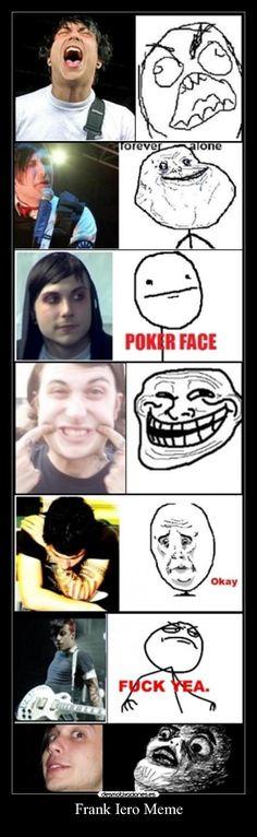 My Chemical Romance, Frank iero meme XD