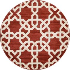 Trellis Rust Red Area Rug