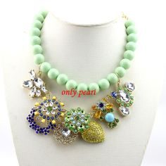 2013 New  Mint Green bubble Necklace  Statement by OnlyPearl, $28.69