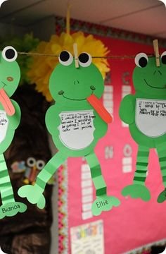 frog craft and short writing activity for Spring.