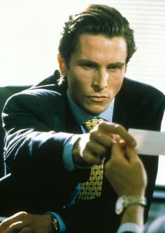 """I think my mask of sanity is about to slip."" - Patrick Bateman"