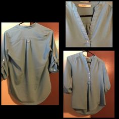 Baby blue blouse small Size small perfect for work Tops Blouses