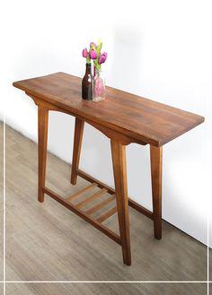 Aparador-Madeira-100m-Dijon Wooden Pallet Furniture, Custom Made Furniture, Wooden Desk, Table Furniture, Furniture Design, Best Online Furniture Stores, Entry Tables, Round Coffee Table, Furniture Inspiration