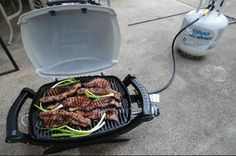 Summer's Coming and it's almost time to Grill!! This Weber portable gas grill is perfect for cookouts with   friends and neighbors!