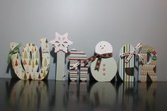 Winter letter decoration @ http://www.etsy.com/listing/58831989/only-two-left-winter-letter-decoration