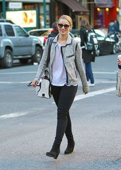 Dianna Agron carrying a Rebecca Minkoff bag