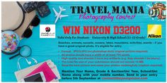 Don't miss the chance to win Nikon D3200...Last date of entry is 5th Sept...Submit your entry at contest@theyoungvision.com #TYVPhotographyCompetition #TYVTravelManiaPhotography #Nikon #Grandstores #theyoungvision #TYV #TYVPhotographyContest2017