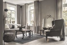 Ton sur ton sfeer styling | Hoffz interieur www.twoonhuis.nl Cosy Living, Classy Living Room, Living Area, Islamic Decor, Shades Of Grey, Front Rooms, Nordic Interior, Interior Decorating, Interior Design