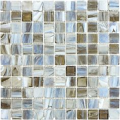 Anatolia Tile 1-inch x 1-inch Glass Mosaic Tile in Smoked Oyster | The Home Depot Canada