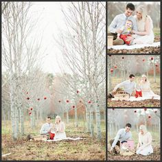 Cute Christmas picture for a family of 3