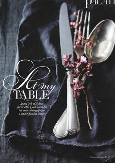 Vogue Living Australia, april 2013  tablecloth & napkin by Society