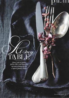 Vogue Living Australia, april 2013  tablecloth & napkin by Society