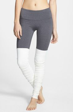 I am in love with these unique leggings!  Alo 'Goddess' Ribbed Leggings available at #Nordstrom