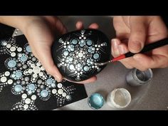 How To Paint Dot Mandalas GIFT IDEAS #3 Simple Snowflake - YouTube