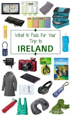 Wondering what to pack for your trip to Ireland? Pack these essential travel items for your vacation to Ireland.