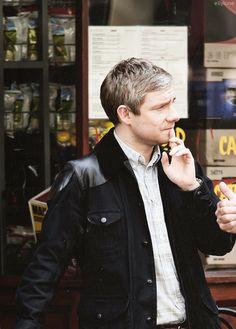 Martin Freeman as John Watson Sherlock Bbc, Sherlock Holmes Benedict, Johnlock, Martin Freeman, Benedict Cumberbatch, Everett Ross, Here's Johnny, Paul Weller, Benedict And Martin