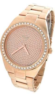 #Guess #Watch , GUESS U11663L1 Sporty Radiance Watch, Rose Gold