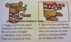 Ratón con tubo de cartón