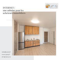 Internet est l'endroit idéal pour les acheteurs immobiliers. Chaque mois, des millions de recherches immobilières poussent les professionnels à s'adapter. Simulation 3d, Divider, Kitchen Cabinets, Internet, Room, Furniture, Home Decor, Property Buyers, Bedroom