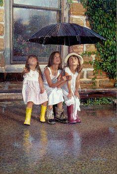 Image detail for -Summer Rain by artist Steve Hanks « I really like his paintings I Love Rain, No Rain, Walking In The Rain, Singing In The Rain, Rainy Night, Rainy Days, Rain Go Away, Sound Of Rain, Going To Rain