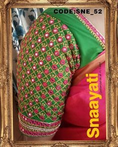 Snaayati Computer Embroidery Allover Mirror Embroidery for Blouse. Please WhatsApp us on 9908955578 for enquiries. New Kurti Designs, Kutch Work Designs, Best Blouse Designs, Simple Blouse Designs, Saree Blouse Models, Mirror Work Blouse Design, Wedding Saree Blouse Designs, Designer Blouse Patterns, Sleeve Designs