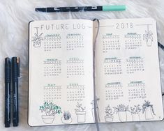 34 vind-ik-leuks, 2 reacties - Bullet Journal inspiration (@bu_joinspiration) op Instagram: 'future log! what are you looking forward to this year? • • Tools: Faber Castell Fineliners Tombow…'