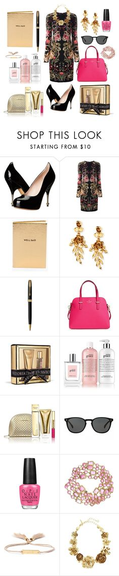 """BFF gift"" by vintagedaisy1 ❤ liked on Polyvore featuring Vivienne Westwood, Roberto Cavalli, Chico's, Oscar de la Renta, Parker, Kate Spade, Victoria's Secret, philosophy, Michael Kors and Oliver Peoples"