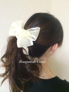 ハンドメイドシュシュ。 ラブリーなふわふわリボンがかわいい♡ ブルー、イエロー、ピンクの3色。  http://s.ameblo.jp/bouquet-de-coeur/  Handmade lovely ribbon hair chouchou, scrunchie! Blue, yellow and pink!
