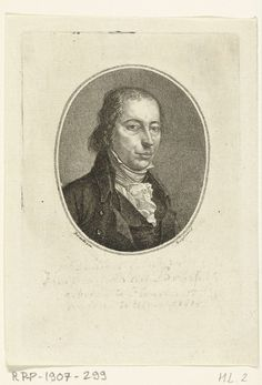 Ernst Willem Jan Bagelaar | Portret van Hermanus van Brussel, Ernst Willem Jan Bagelaar, 1798 - 1815 | Portretbuste van Hermanus van Brussel, in ovaal naar rechts.