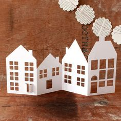 Tiny Paper Houses Card