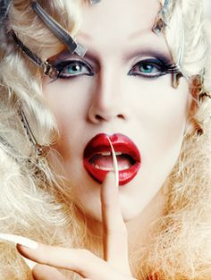 "PSA: Don't loudly exclaim that you ""love Sharon Needles"" while at work...especially if you work at a small town bank and there are a lot of old people in the building. You will get odd stares...or knowing ones. Or, you know, do it anyway and relish in their confused expressions."