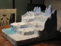 @Marilyn McNalley ~ This would be nice to have to display our villages in a small space ~  Sculpted North Pole Display by 56th and Main, via Flickr