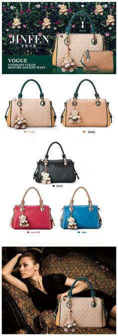 Fashion women leather handbags, Eight colors for choice, $43.29