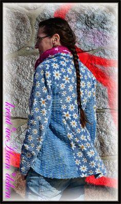 RomantikBlazer, Jeans, Fleece, Schnittherzchen, sewing, kreat*iveHaen*dchen, verändert, Outdoor, romantic,