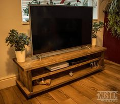 Rustic TV stand Cabinet Industrial TV stand Scaffold board TV stand handcrafted chunky handmade Tv stand television display unit up cycled - UPCYCLED FURNITURE Pallet Furniture Tv Stand, Reclaimed Wood Furniture, Upcycled Furniture, Rustic Furniture, Diy Furniture, Reclaimed Wood Tv Stand, Furniture Movers, Bespoke Furniture, Lounge Furniture