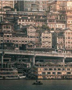 【画像】中国の重慶、サイバーパンクみたいな世界観になる : Y速報 Asian Architecture, Futuristic Architecture, Architecture Office, Architecture Design, Urban Landscape, Landscape Photos, Travel Around The World, Around The Worlds, Chongqing China
