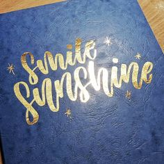 I picked up this beautiful blue Clairefontaine sketchbook a while ago and hadn't done anything with it. It's still blank… I Pick, Brush Lettering, Do Anything, Notebook, Blue, Beautiful, Instagram, Notebooks, Exercise Book