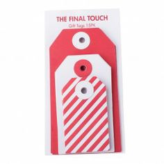 GIFT TAGS 15PK ESSENTIAL: JUL - Christmas Cards - Cards - Gifts kikki.K