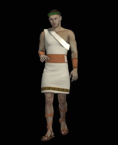 3D Download - The 3D Roman toga clothes models for DAZ Michael 4 contains a toga, sandals, belt, arm guards and a head laurels. This set is conforming and...