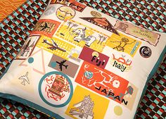 Destination silk memento cushion from RE